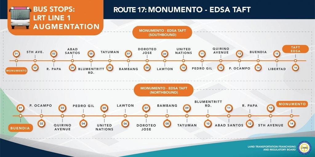 Route 17: Monumento-EDSA Taft