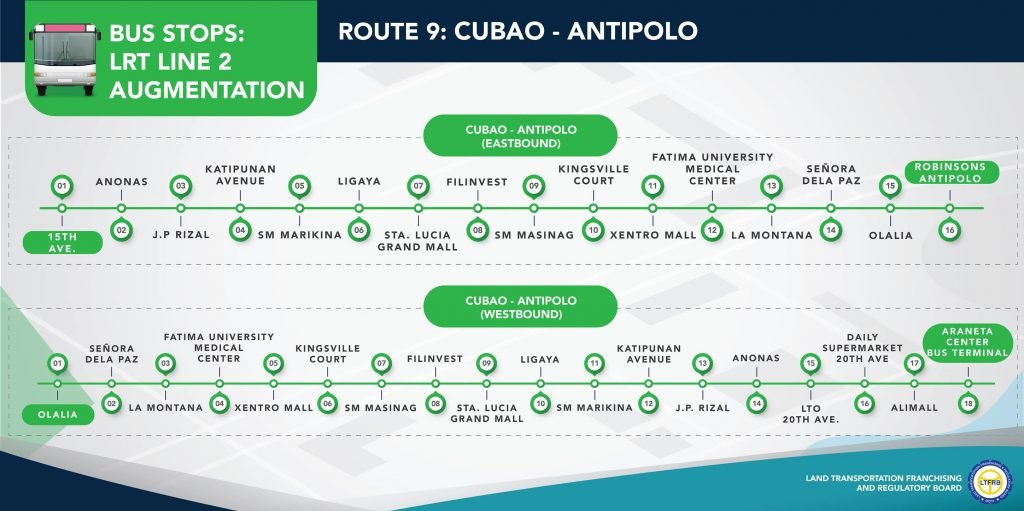 Route 9: Cubao-Antipolo bus route