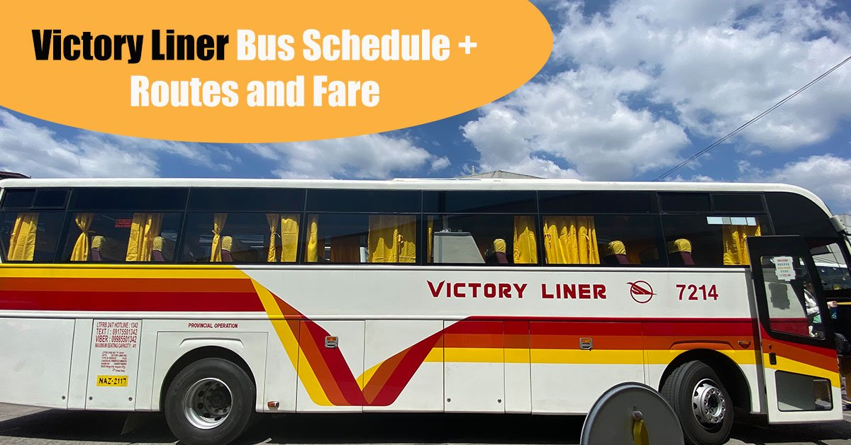Victory Liner Bus Schedule + Route and Fare Under GCQ