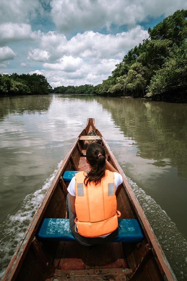 manglares churute en lancha