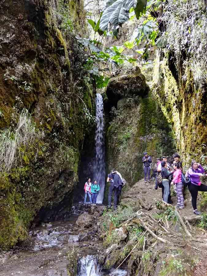 La cascada del Río Mindo, donde se origina el agua para Quito. Foto: CP