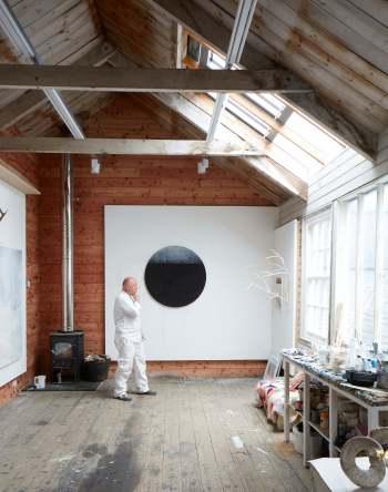 Gareth Edwards in painting studio