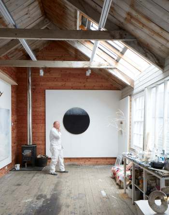 Gareth Edwards in painting studio