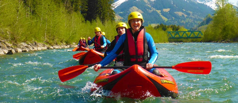Regenwetter Oberstdorf - Rafting
