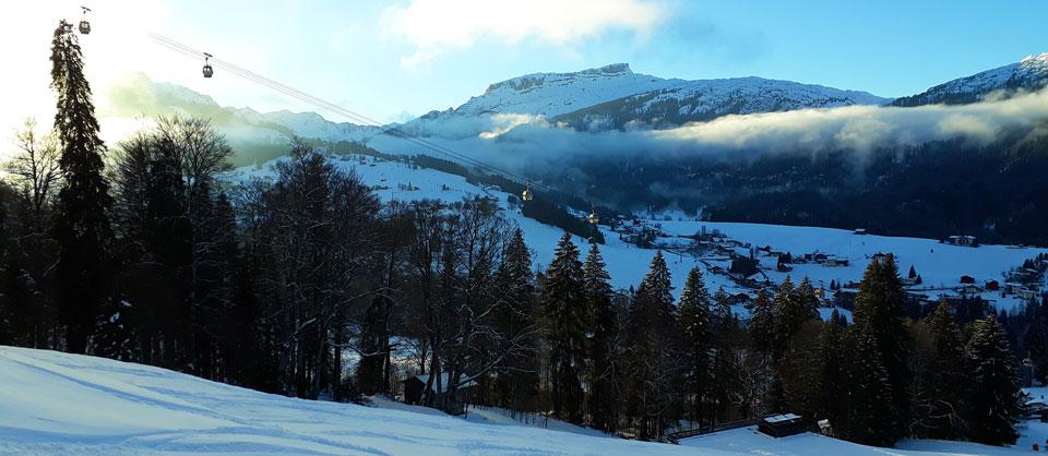 Regenwetter Oberstdorf - Bergbahn fahren