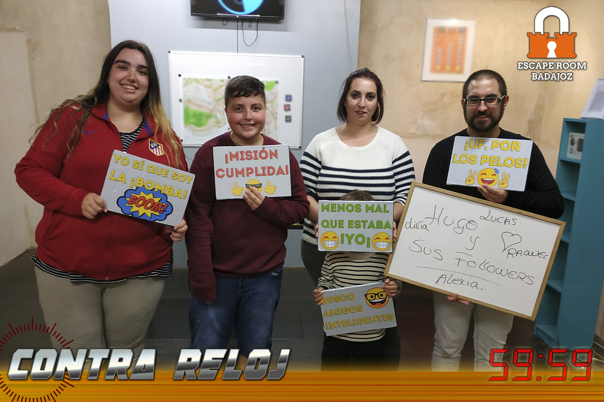 Equipo-Hugoysusfollowers-escape-room-badajoz-contrareloj