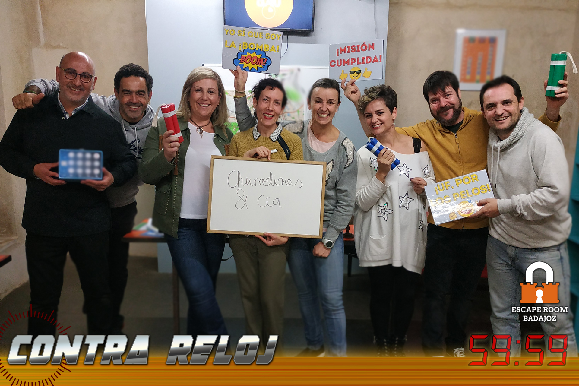 Equipo-churretines-escape-room-badajoz