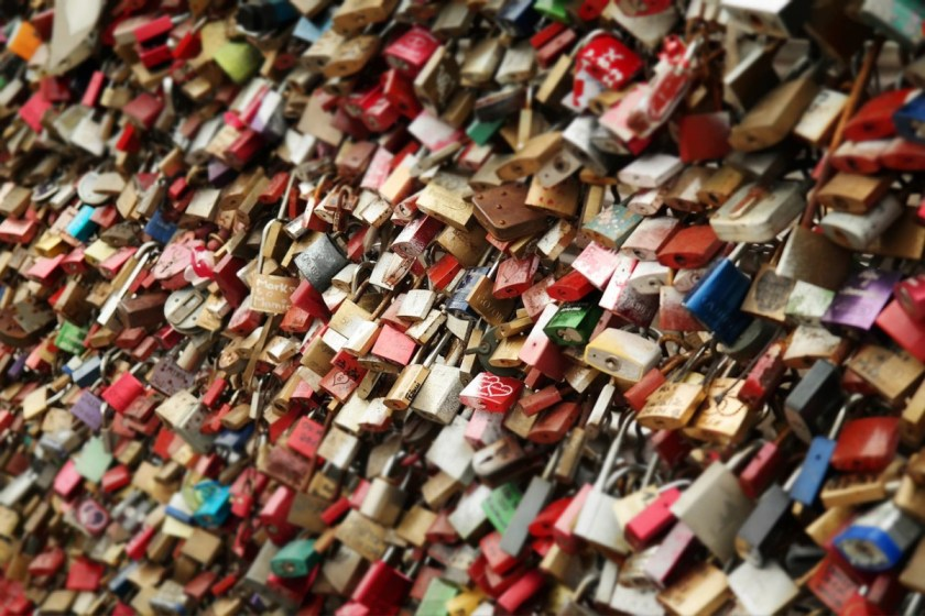 This love lock bridge definitely has too many key locks.