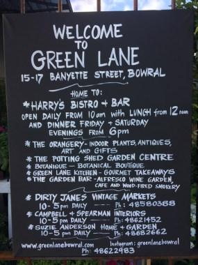 Green Lane Black board