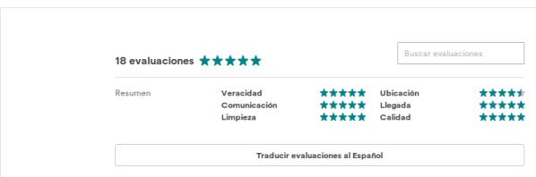 imagen de evaluaciones de publicaciones en airbnb