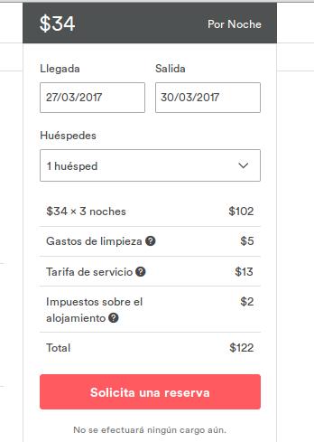 guia como usar airbnb imagen ejemplo como se ve a la hora de solicitar reserva en airbnb