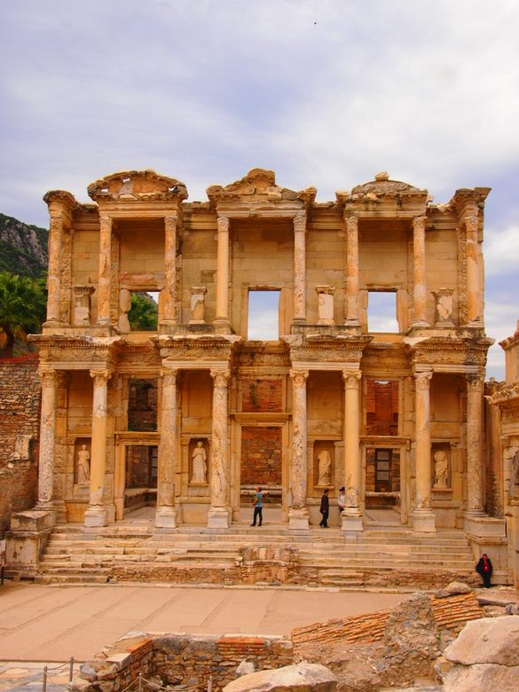 La biblioteca de Celso Despedida desde Éfeso. Guía de Viaje Turquia