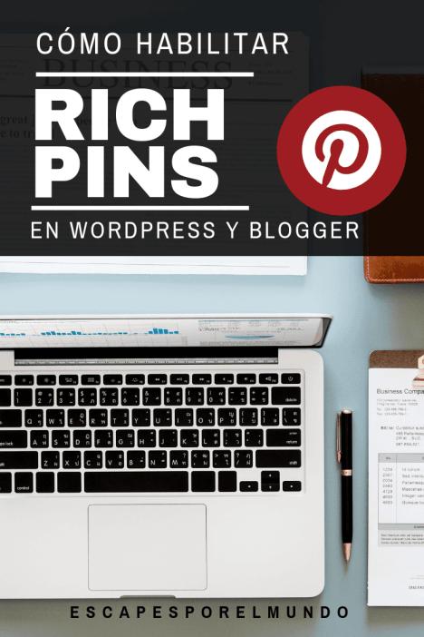 HABILITAR Pinterest Rich Pins en Worspress y Blogger