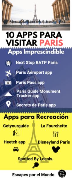 10 aplicaciones para viajar a paris infografia
