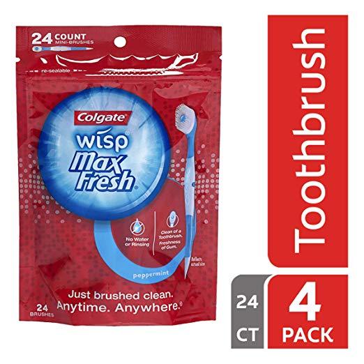Cepillo de dientes viajero (un solo uso)