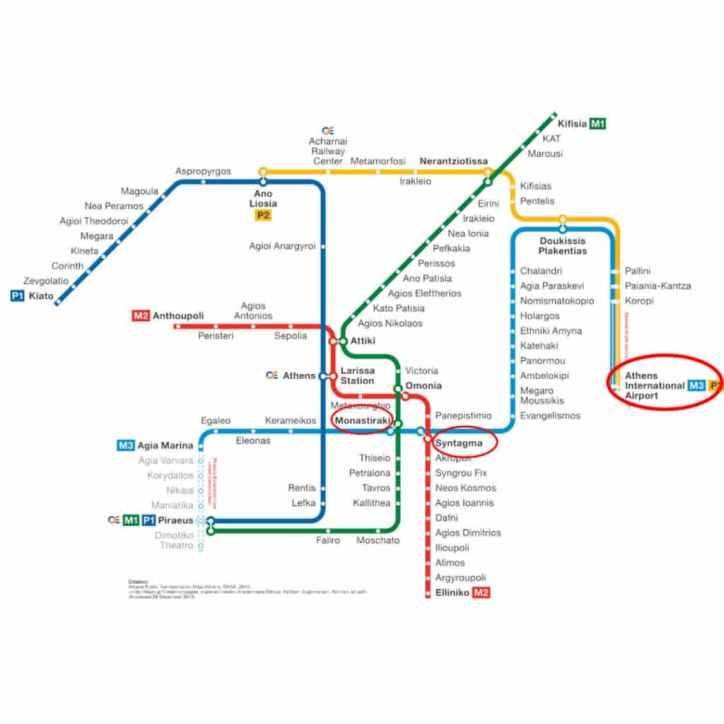 Metro de Atenas Grecia Escapes por el Mundo