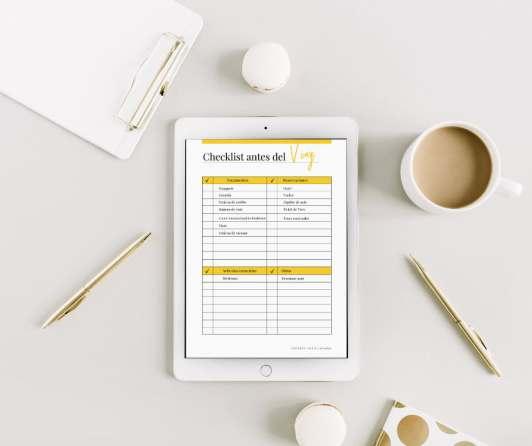 planificador de viaje producto digital