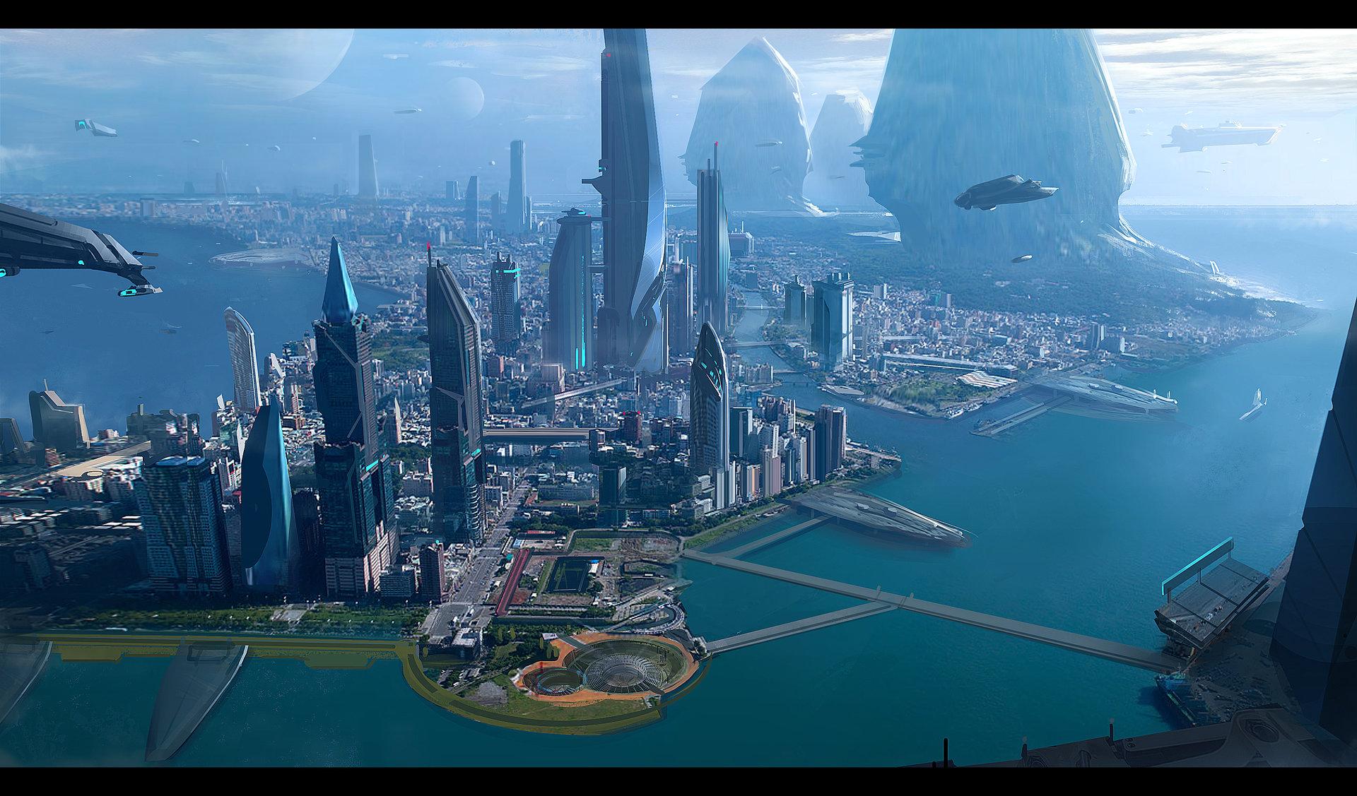 Aerial Shot - Terra - Star Citizen - Josh Kao