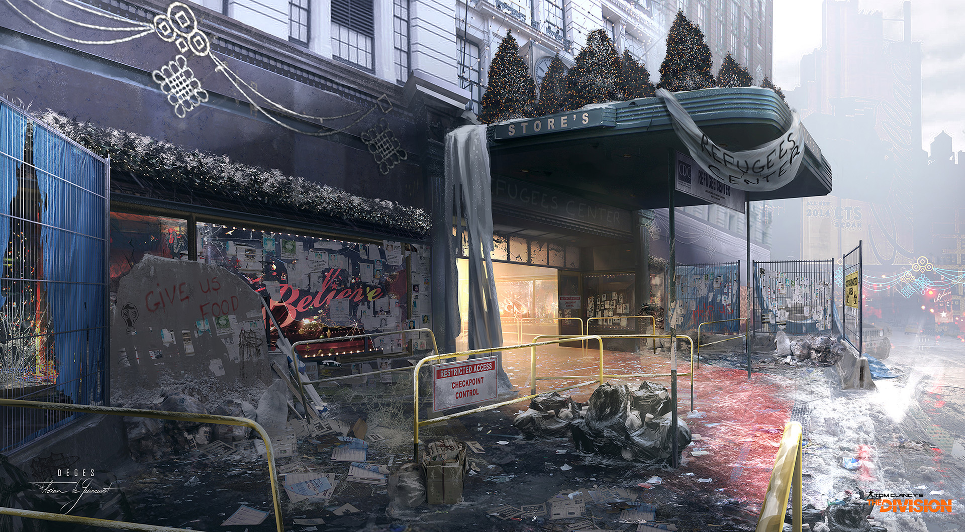 The Division Concept Art by Florian de Gesincourt.