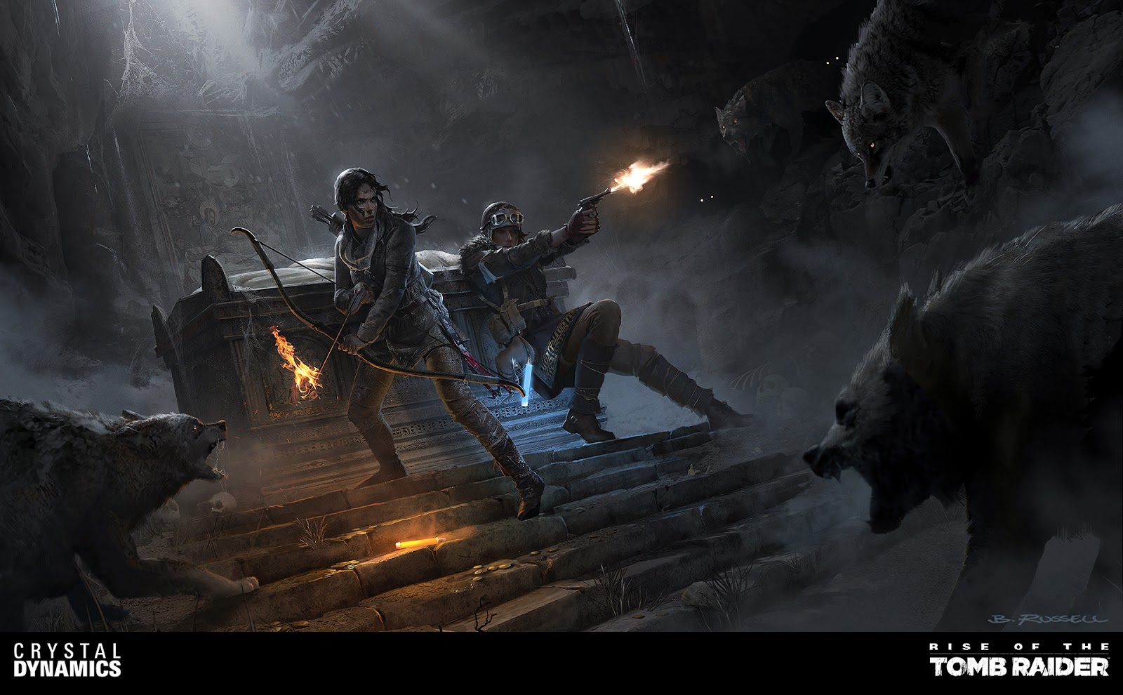 Rise of the Tomb Raider Concept Art by Brandon Russell