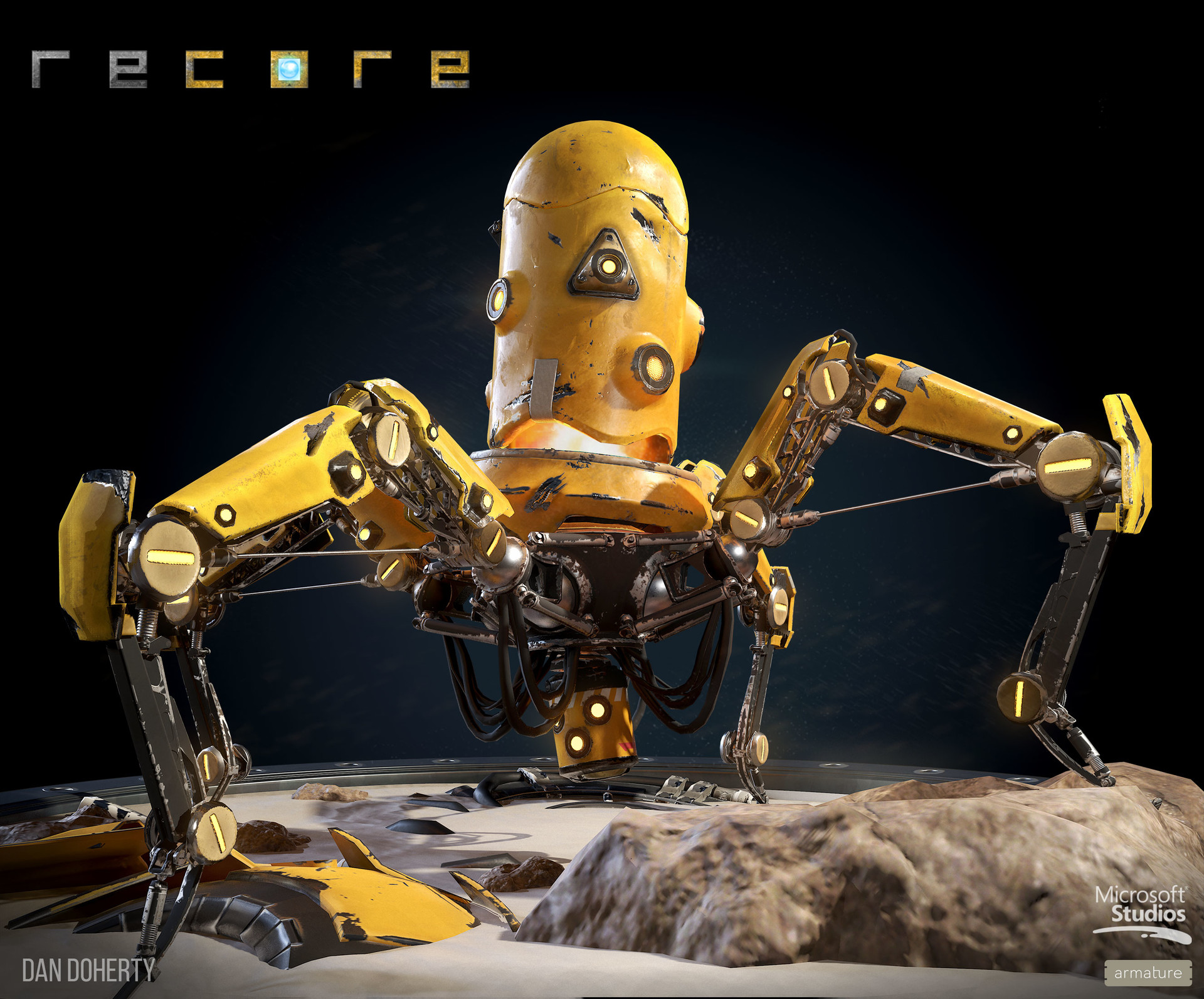 ReCore Character Art by Dan Doherty