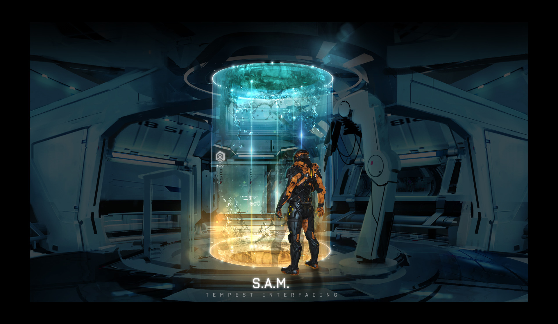 Mass Effect Andromeda Concept Art - UI Art by Eric Bellefeuille