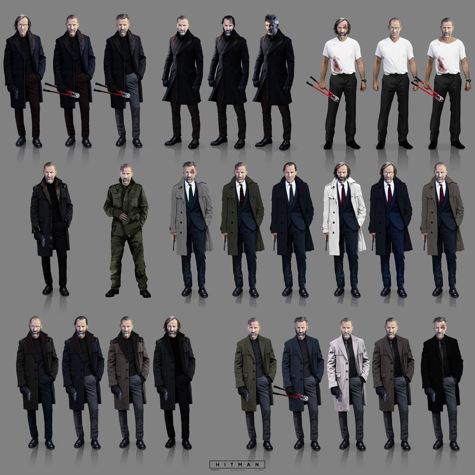 Hitman Character Concept Art by Simon Lindwall