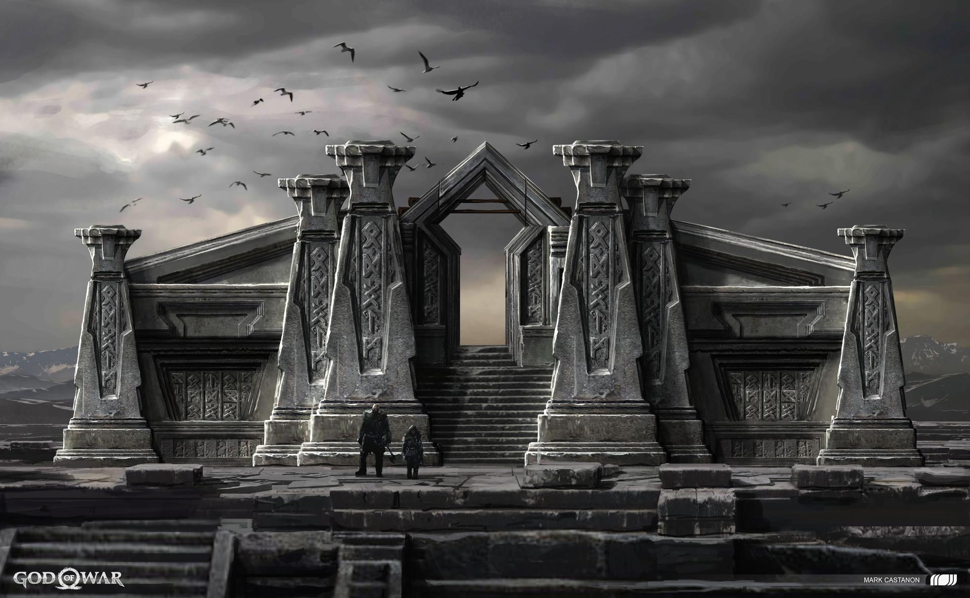 God of War Concept Art by Mark Castanon
