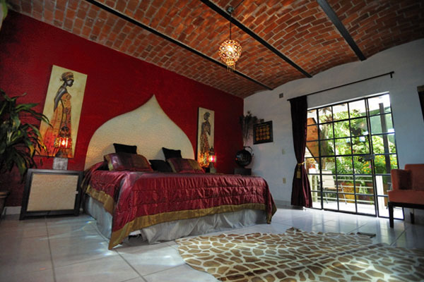 The morroccan suite at the Casa Flores bed and breakfast in Ajijic, Mexico.