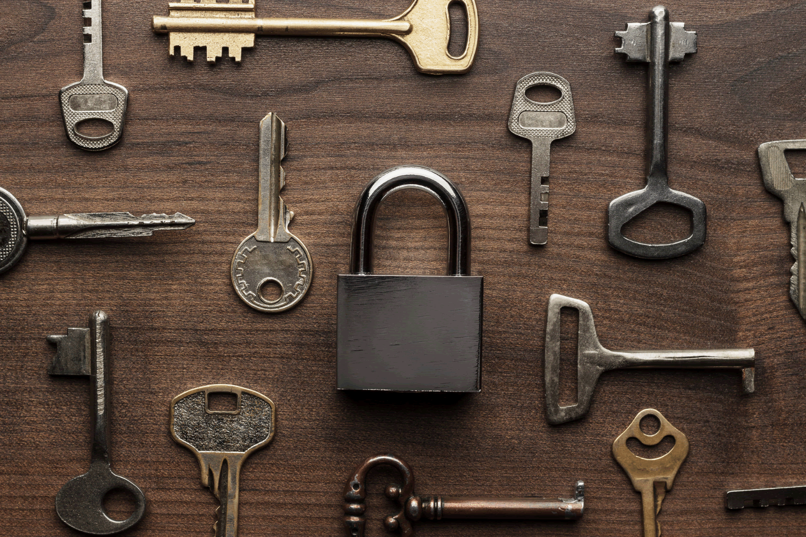 rustic locks and keys background image