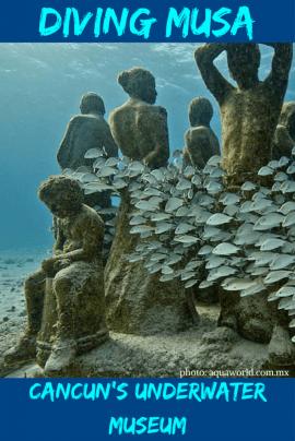 Scuba Diving Cancun's underwater museum