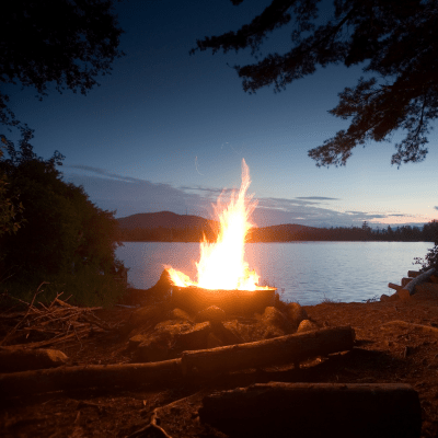 campfire, fire, outdoors, nature