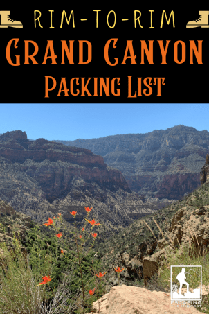 Grand Canyon Packing List