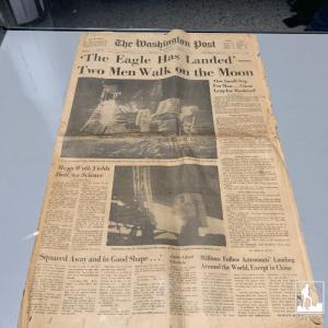 newspaper man on moon