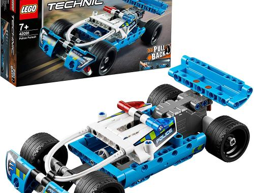 LEGO 42091 Technic Police Pursuit Toy Car with Pull-Back Motor Building Set Review