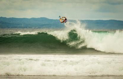 Joel Parkinson with a huge air.