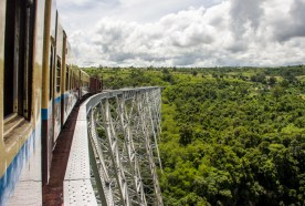 The Dancing Train to Hsioaw going over the Gokteik Viaduct