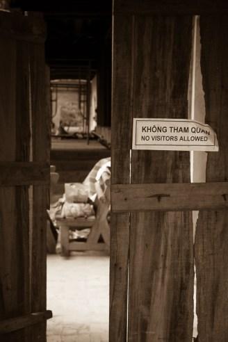 Renocations at imperial citadel, Hue, Vietnam