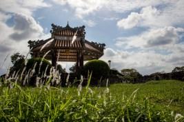 Pavillion at imperial citadel, Hue, Vietnam