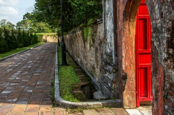 Wall at imperial citadel, Hue, Vietnam