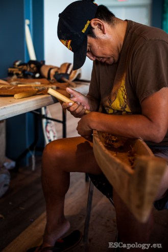 Miniature canoe at the Tofino Carving Festival