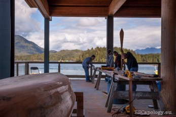 Entering the Tofino Carving Festival