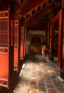 Serenity inside the temple Hanoi