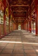 Hallway at imperial citadel, Hue, Vietnam