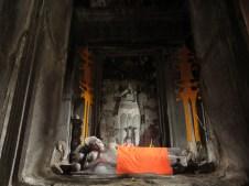 Reclining Buddha inside Angkor Wat