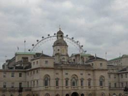 The London Eye over Horseguards Parade (I think)