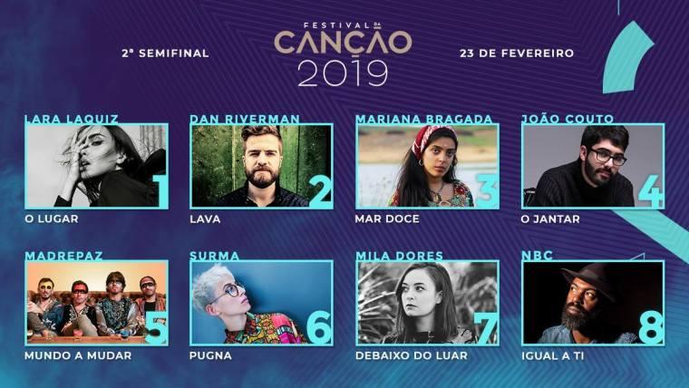 00 - Portugal 2019 (Festival Da Canção, Eurovision) SF2.jpg