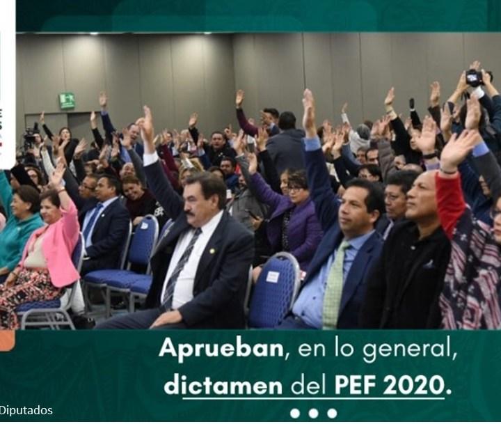 Esta madrugada, MORENA y aliados aprueban, en lo general, el PEF de 2020