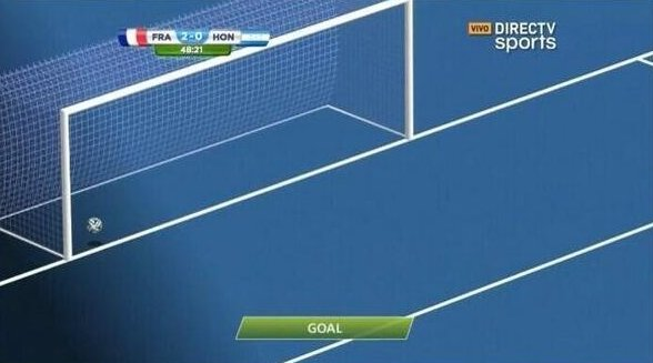 Primer gol en la historia en ser validado con la tecnología: Línea de gol.