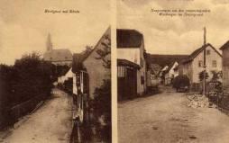 Ansichtskarte mit Kirchgasse und Hauptsrasse, etwa 1906. Foto: R. Wick